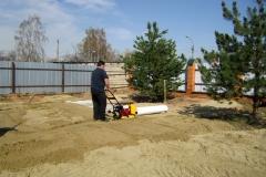 уплотнение песка виброплитой